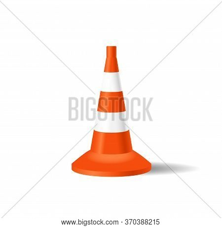 Road Cone. Vector Illustration Of Traffic Cone. Road Cone - Repair Illustration. Vector Eps 10. Whit