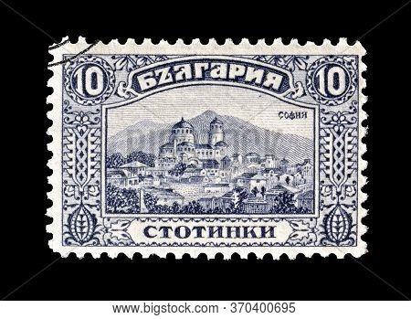 Bulgaria - Circa 1921 : Cancelled Postage Stamp Printed By Bulgaria, That Shows Sofia, Circa 1921.