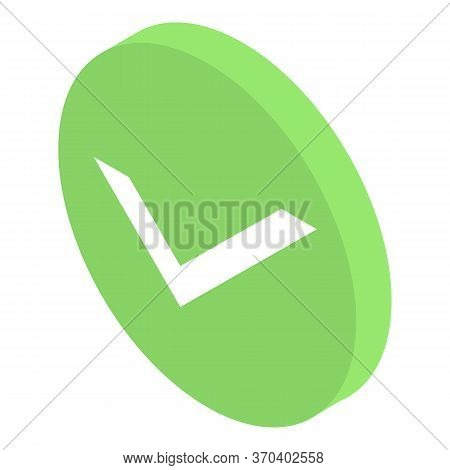 Approved Sign Icon. Isometric Of Approved Sign Vector Icon For Web Design Isolated On White Backgrou