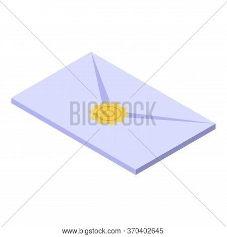 Notary Letter Icon. Isometric Of Notary Letter Vector Icon For Web Design Isolated On White Backgrou