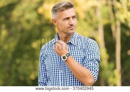 Handsome Style. Handsome Man On Summer Outdoor. Handsome Look Of Unshaven Man. Casual Style. Fashion