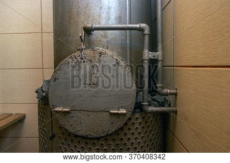 Stove With Stones In The Russian Bath