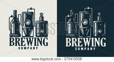 Emblem Of Brewing Company Or Beer Crafting