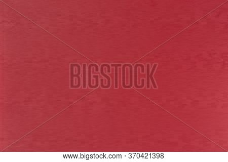 Texture Of Red Polystyrene Plastic Close Up, Background, Design With Copy Space