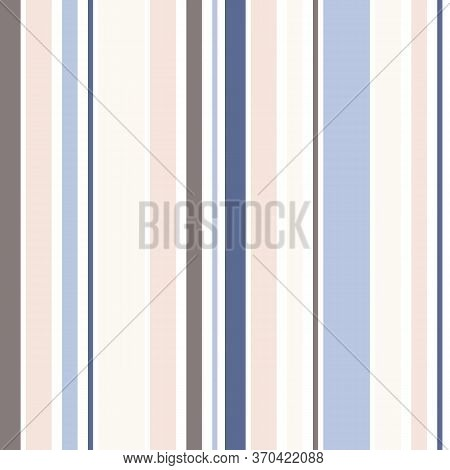Simple Vector Vertical Stripes Pattern. Colorful Seamless Texture With Thin And Thick Straight Lines