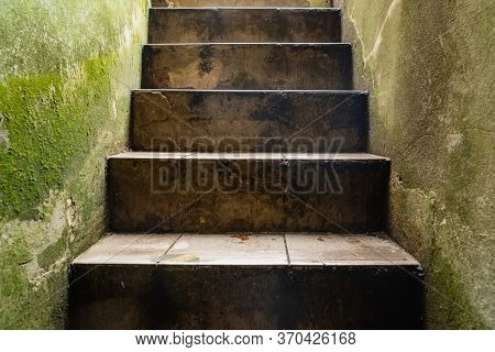 stairs in old medieval tower