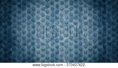 Old-fashioned Retro Style Aged Vintage Home Decoration Damask Wallpaper Background. Grunge, Aged Tex