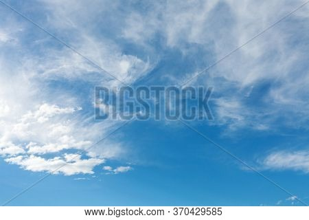Beautiful sky.clear sky and white cloud.Great as a background