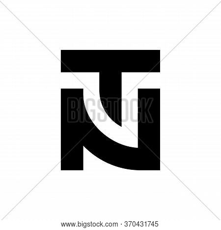 Initial Letter Tn Nt Logo Template, Black And White Typography Symbol, Vector Illustration