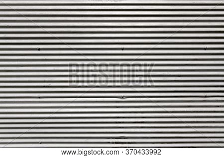 Old White Corrugated Metal Wall Texture