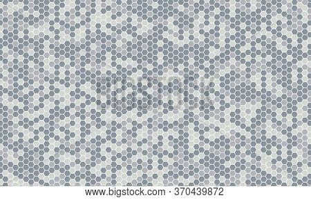 Mirror Silver Honeycomb Tiles. Abstract Mosaic Geometry Pattern. Hexagon Minimal Mirror Background O
