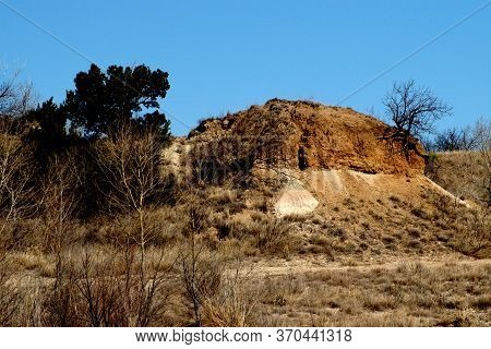 Shoreline And Surface Of Greenbelt Lake Near Amarillo, Texas.