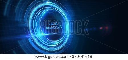 Data Analysis For Business And Finance Concept. Information Report For Digital Business Strategy. Bu