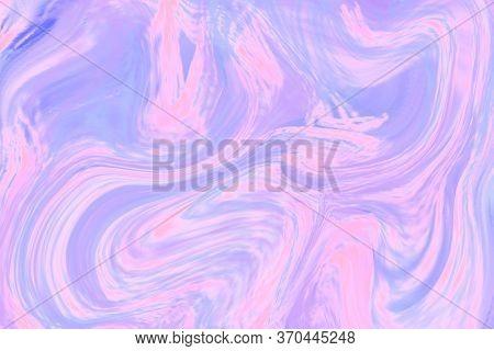 Pale Violet Liquid Color Illustration. Pastel Multicolored Digital Texture. Smudged Paint Cover Temp