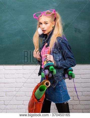 Just Want Have Fun. Creative Style. Self Expression And Fashion. Fancy Schoolgirl. School Fashion. C