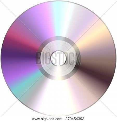 Cd, Dvd, Blu Ray Or Other Disc With Video Films, Music, Software, Or Other Data. Isolated On A White