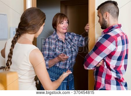 Disappointed Elderly Woman Threatens Their Young Neighbours.