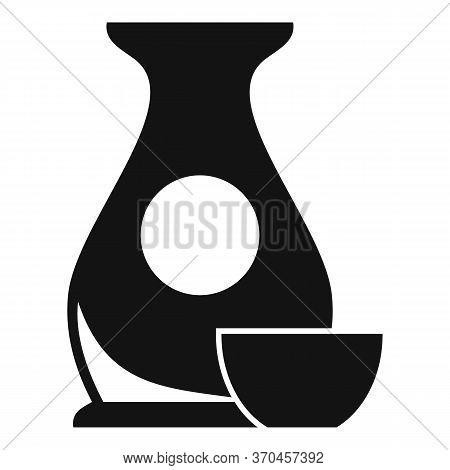 Japanese Traditional Jug Icon. Simple Illustration Of Japanese Traditional Jug Vector Icon For Web D