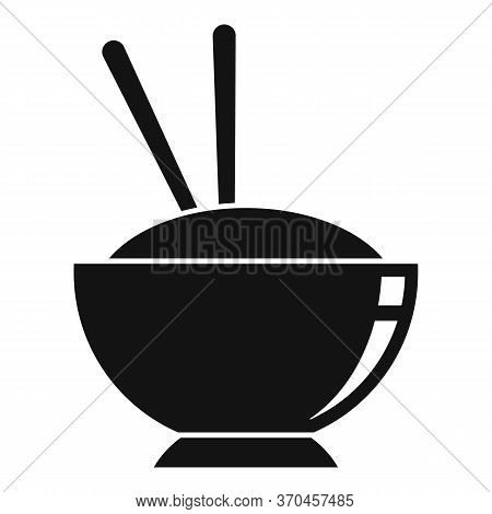 Japanese Rice Bowl Icon. Simple Illustration Of Japanese Rice Bowl Vector Icon For Web Design Isolat