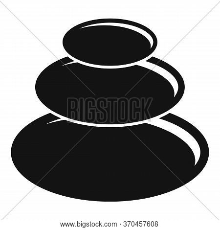 Japanese Round Stones Icon. Simple Illustration Of Japanese Round Stones Vector Icon For Web Design