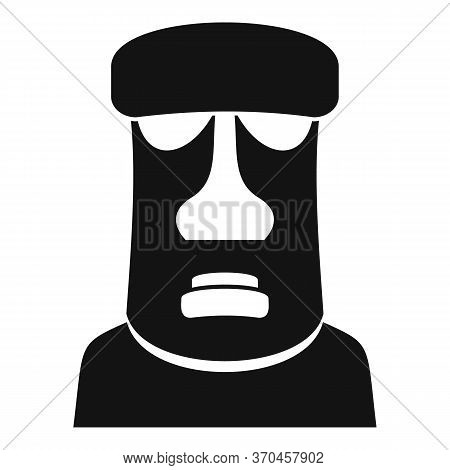 Geology Moai Head Icon. Simple Illustration Of Geology Moai Head Vector Icon For Web Design Isolated