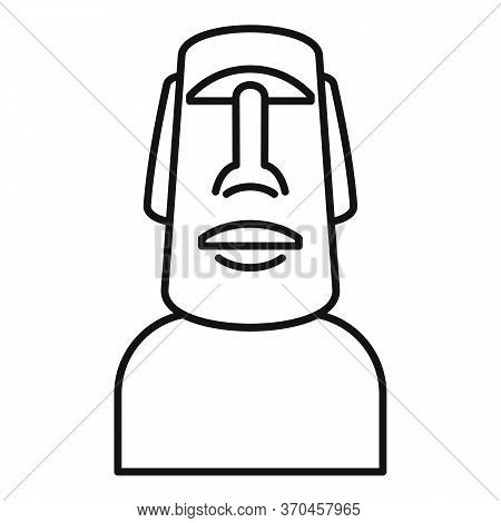 Easter Island Statue Icon. Outline Easter Island Statue Vector Icon For Web Design Isolated On White