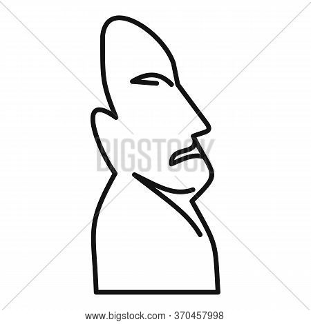 Moai Statue Icon. Outline Moai Statue Vector Icon For Web Design Isolated On White Background