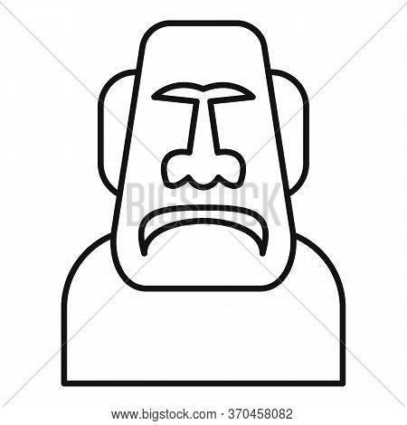 Spirituality Moai Head Icon. Outline Spirituality Moai Head Vector Icon For Web Design Isolated On W