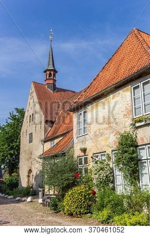 Historic St. Johannis Monastery In Holm Quarter Of Schleswig, Germany