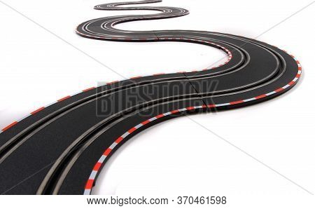 Toy Car Racing Track Isolated