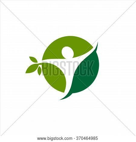 Organic Logo. Leaf People Logo. Natural Products Logo. Cosmetics Icon. Spa Logo. Beauty Salon Logo.