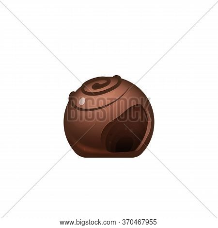 Cut Chocolate Candy, Sweet Cocoa Dessert Realistic Vector Illustration. Sugar Confectionery, Delicio