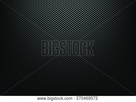 Carbon Fibre Texture Background, New Technology Abstract, Vector Illustration
