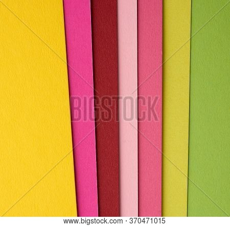Multi-colored Cardboard Folded In Layers With A Shadow, Abstract Creative Backdrop For The Designer