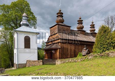 Wislok Wielki - May 29, 2020: Wooden Greek Catholic Church Of St. Onuphrius (onufry); Currently, A R