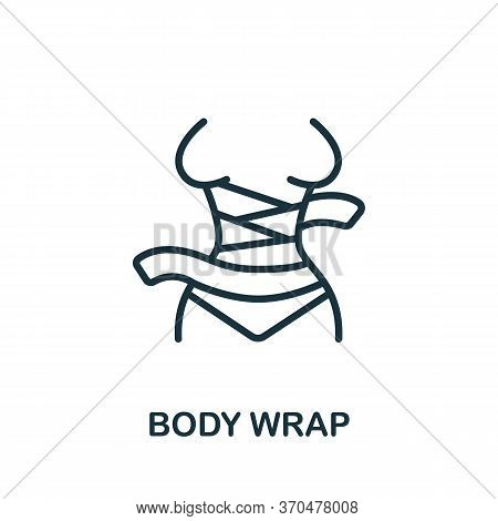 Body Wrap Icon. Simple Element From Cosmetology Collection. Creative Body Wrap Icon For Web Design,