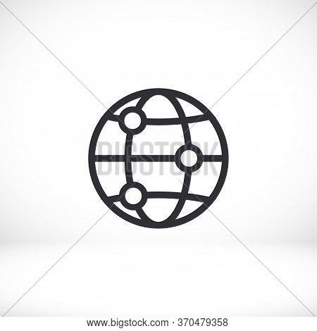 Globe Icon Vector Eps 10 Lorem Ipsum Flat Design Globe Planet Map Vector