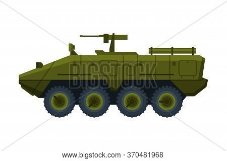 Armored Infantry Fighting Vehicle, Heavy Special Transport, Flat Vector Illustration