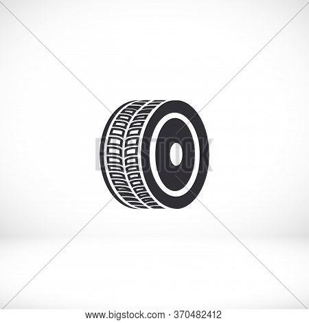 Tyre - Wheel Car Icon Vector Eps 10. Car Wheel Drive Design Flat Illustration