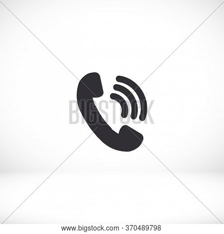 Handset Icon Vector 10 Eps . Lorem Ipsum Flat Design