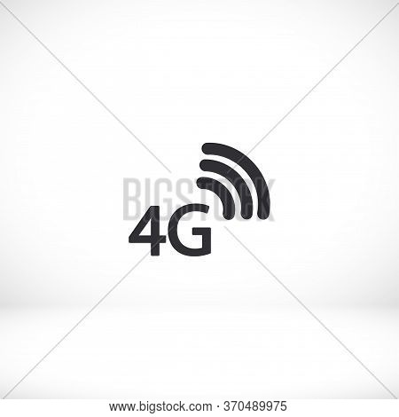 4g Outline Icon Isolated On A Beautiful Background. 4g Symbol For Website Design, Mobile App, Logo,