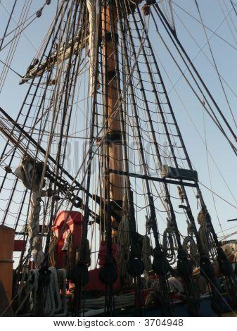 A Tall Ship Docked At Port Macquarie, N.S.W.