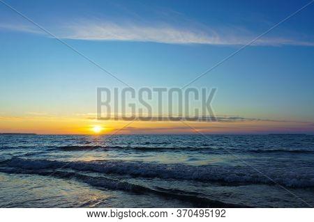 Sunrise On The Baltic Coast, Sunset On The Sea
