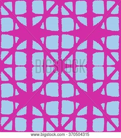Japanese Tie Dye Seamless Pattern. Elegant Kimono Textile. Soft Shell Shape Pattern Retro Shibori Se
