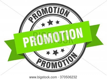 Promotion Label. Promotion Green Band Sign. Promotion