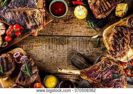 Set Of Various Grilled Bbq Meat