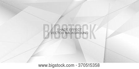 Halftone Minimal Gray Vector Background. Gray White Shadow Page. Halftone Wallpaper. Pop Art Light D