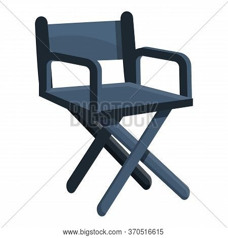 Wood Stage Director Chair Icon. Cartoon Of Wood Stage Director Chair Vector Icon For Web Design Isol