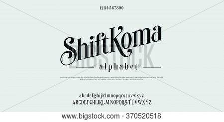 Custom Font Bundle Script Serif Aplhabet Bunddle.