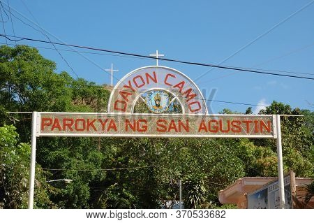 Palawan, Ph - March 9 - Parokya Ng San Agustin (parish Of San Agustin) Entrance Arch On March 9, 201